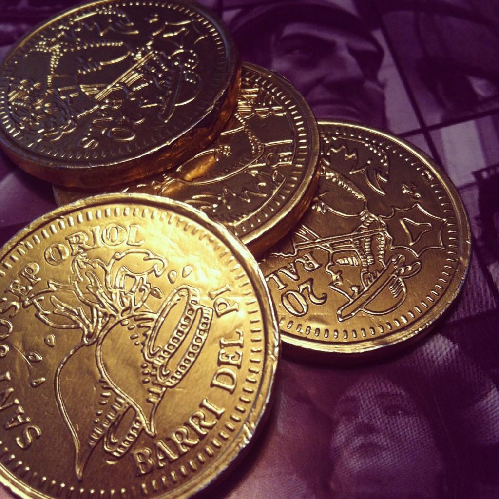 Monedes de xocolata